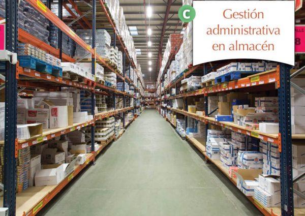 Gestión administrativa en almacén